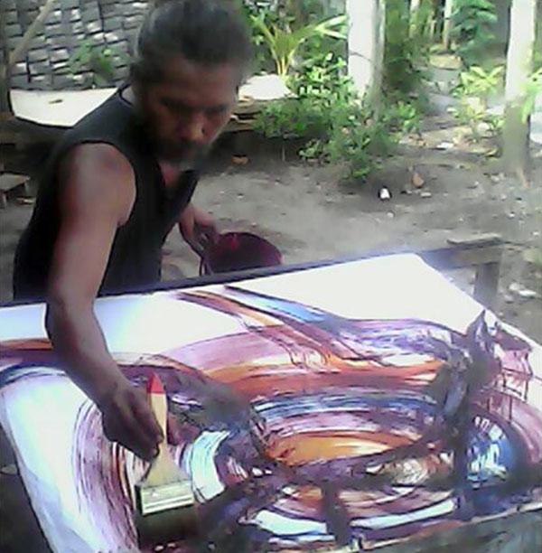 Sugito, pencetus aliran Batik Abstrak Kulonprogo.