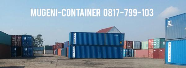 Kontainer ukuran 20 feet maupun 40 feet tersedia di Mugeni Container.